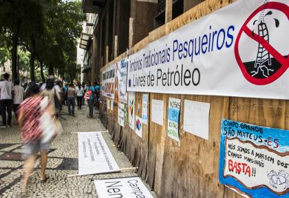 Protesto em frente à ANP. (Foto: Rosilene Miliotti / FASE)